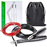 Sportein Jump rope Workout, Weighted & Speed Jump Ropes for Fitness, Skipping Rope for Exercise, Jumping Rope, Crossfit…