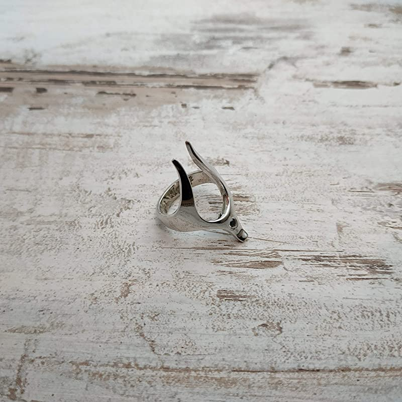 Egyptian Ring Dog Lover Jewelry Fox Ring - Oversized ring Minimalist Ring Yellow Dog Ring Animal Ring Anubis Ring