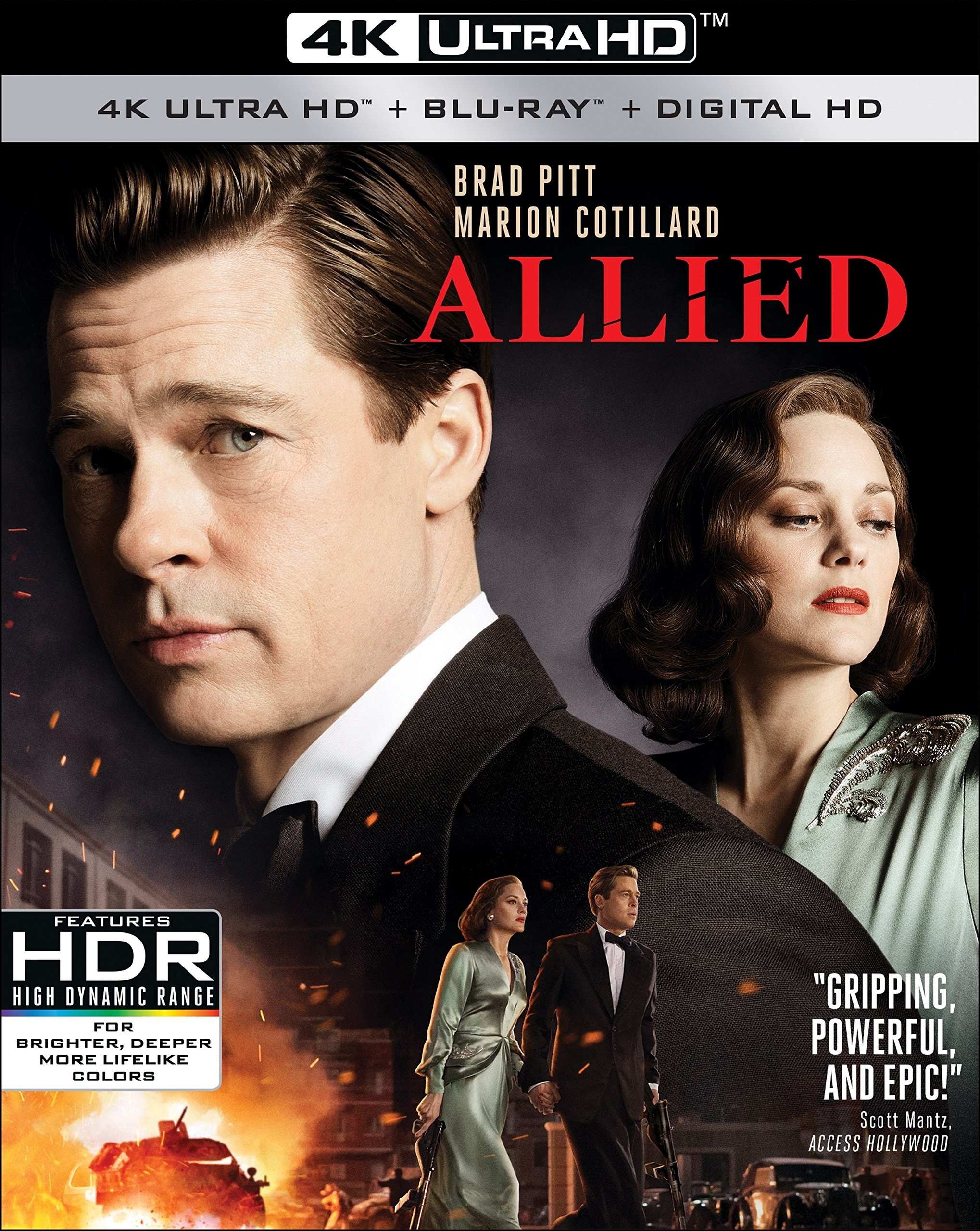 4K Blu-ray : Allied (With Blu-Ray, 4K Mastering, Digitally Mastered in HD, Widescreen, )
