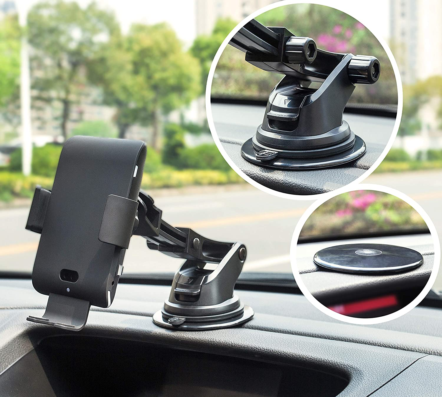 Samsung S10 S9 S8 Note 9 Dashboard Air Vent Phone Holder Compatible with iPhone X Xs Max XR 8 Voice Activate Auto Clamping Qi 10//7.5W Fast Charging /& 5W Car Mount LEXONIX Wireless Car Charger Mount