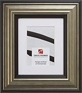 Craig Frames 21307202 20 x 24 Inch Aged Silver and Black Picture Frame Matted to Display a 16 x 20 Inch Photo