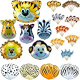 amazoncom fun express 12pack inflatable clear jungle