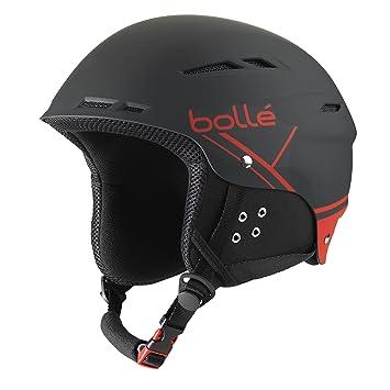 Bollé 31212 Cascos de Esquí, Unisex Adulto, Negro (Soft Black/Red)