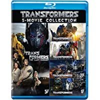 Transformers: The Complete 5 Movies Collection - Transformers (2007) + Revenge of the Fallen + Dark of the Moon + Age of Extinction + The Last Knight (5-Disc Box Set)