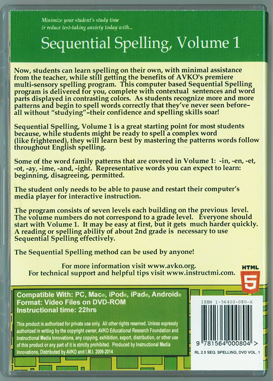 Amazon.com : Volume 1 - Sequential Spelling DVD-ROM, NEW Version 2.5 ...