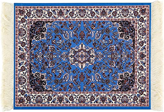 Oriental Woven Rug Mouse Pad Great Gift Square Turkish Style Carpet Mousemat