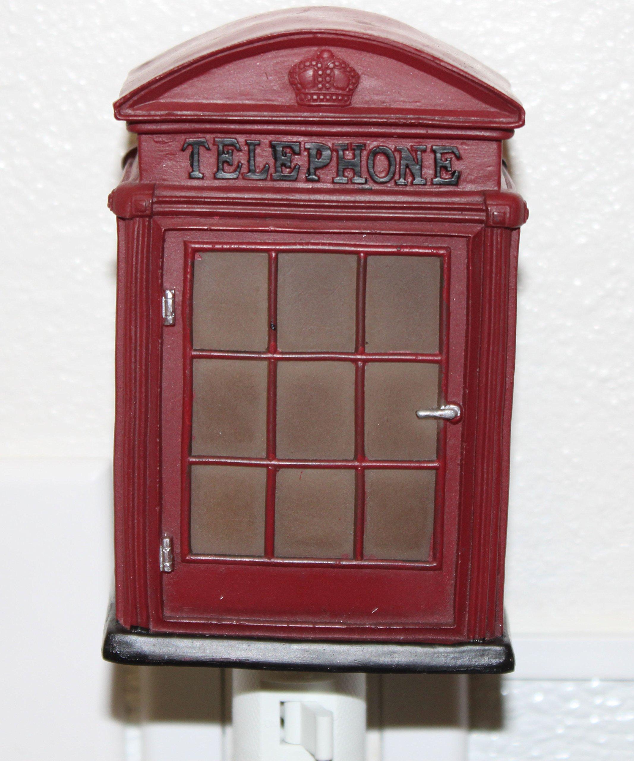 London Phone Booth Retro Nightlight Lamp Candle Home Decor Congratulatory Blessing Souvenir Gift US Seller (London Phone Booth -CN92)