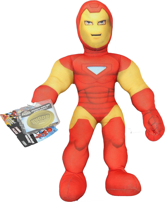 "BRAND NEW 10/"" MARVEL PLUSH SOFT TOY IRON MAN CHARACTER SUPERHERO SQUAD TOY"
