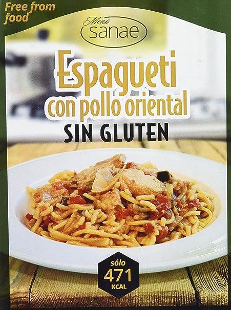 Menú Sanae Espagueti con Pollo Oriental - Paquete de 4 x 300 gr - Total: