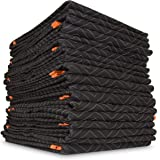 WEN 272812 72-Inch by 80-Inch Heavy Duty Padded Moving Blankets, 12 Pack
