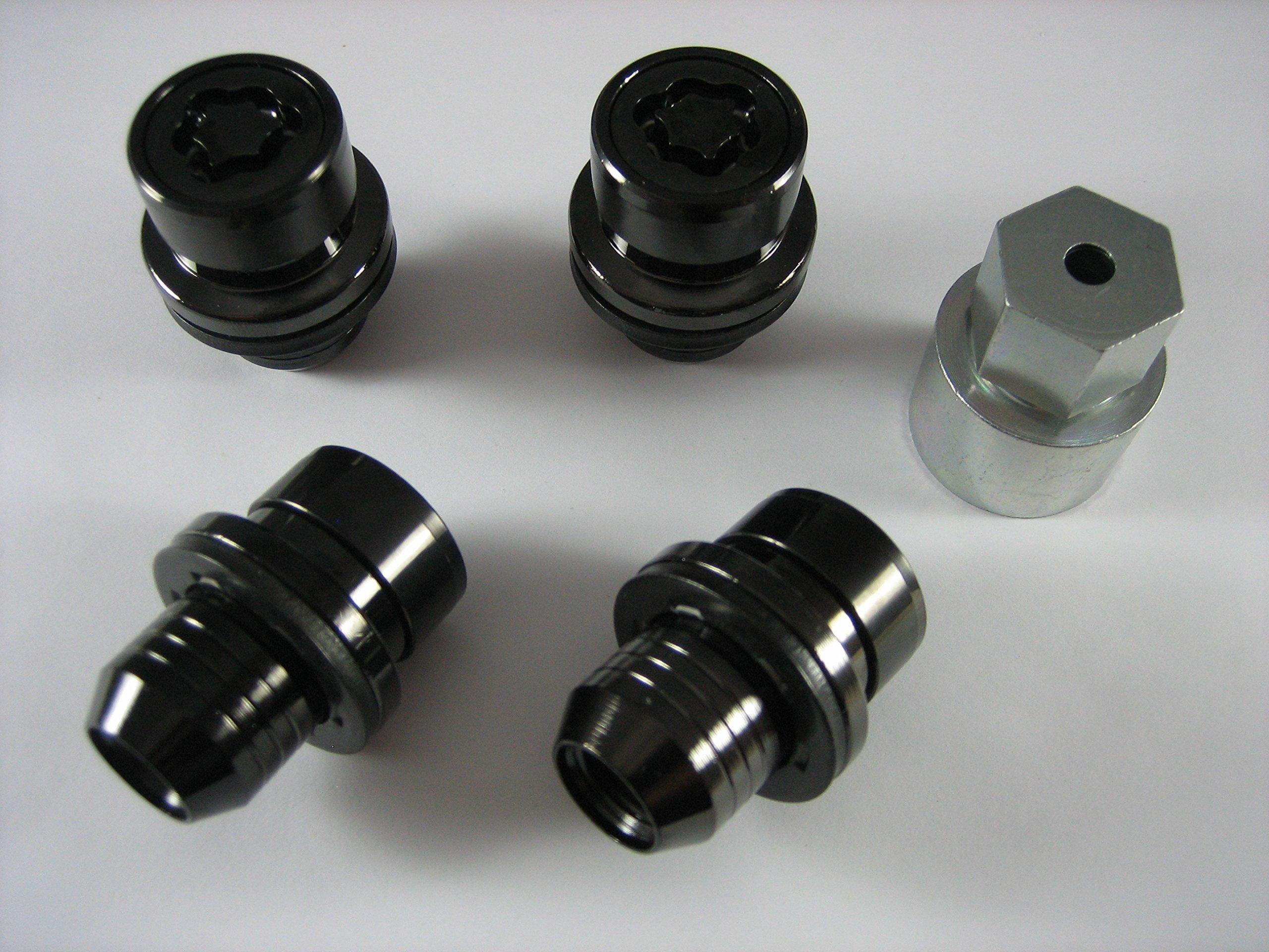 Genuine Land Rover Gloss Black Wheel Lock Set for LR3 LR4 Range Rover and Sport