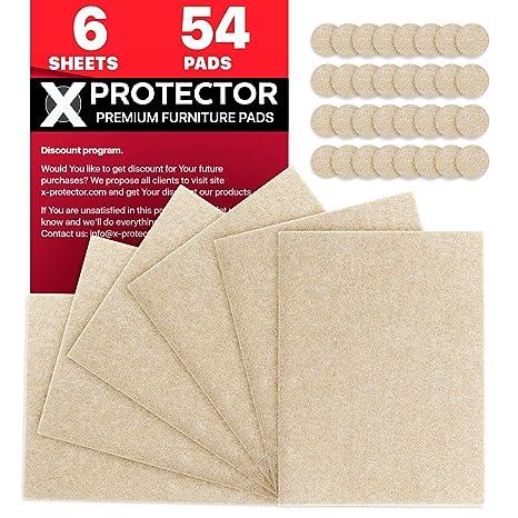 X-Protector Fieltro Adhesivo Deslizadores para Muebles ...