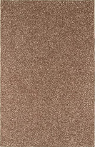 Our Space Collection Solid Color Area Rugs Brown – 3 x5