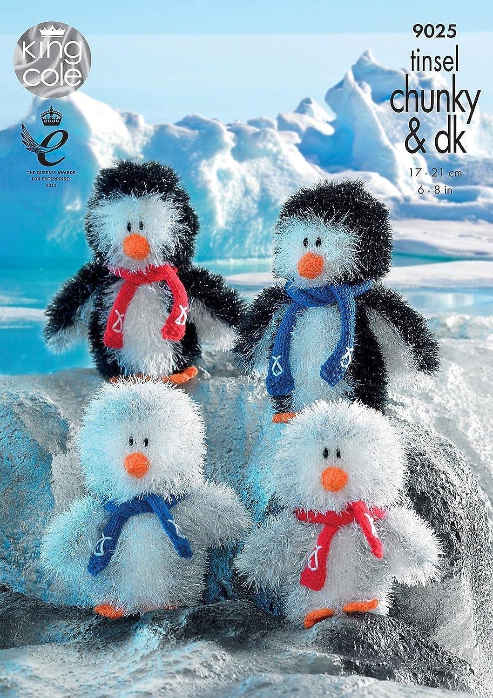 King Cole Penguin Family Toys Knitting Pattern 9025 Chunky: Amazon ...