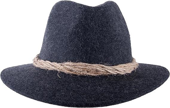 Uomo per cappello tirolese cappello di feltro cappello tirolese cappello  Loden Cappello bavarese cappello di lana in marrone o grigio antracite  Anthrazit ... 526ea8313448