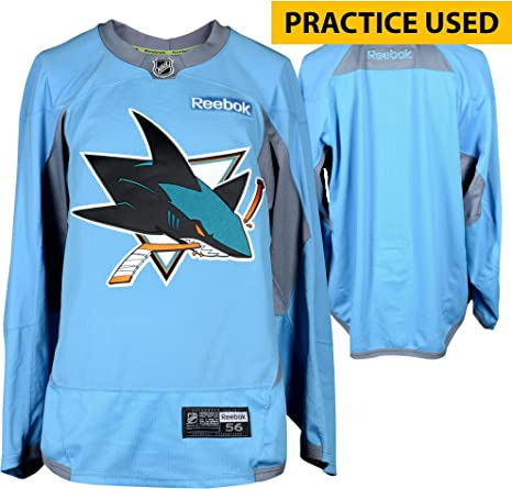 f030036e9 Image Unavailable. Image not available for. Color  San Jose Sharks Practice- Used Sky Blue Reebok Jersey - Size 56 - Fanatics Authentic