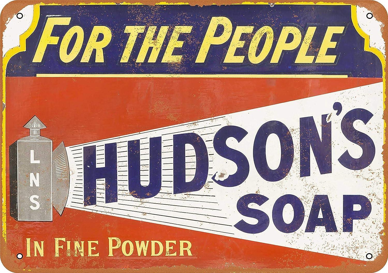 Hudson/'s Savon Vintage Style Rétro Publicité Métal Tin Signe Horloge Murale