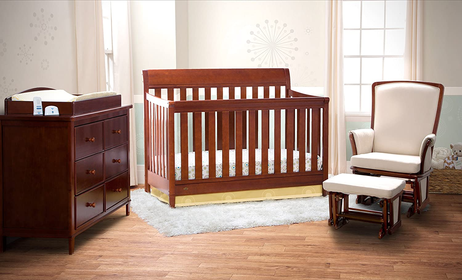 Delta Children Haven 4-in-1 Convertible Crib, Espresso Truffle