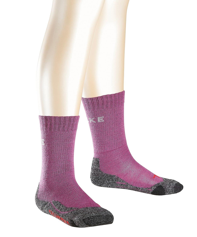 Falke Calcetines de Senderismo para niños TK2, Primavera/Verano, Infantil, Color Morado - Morado, tamaño 10442