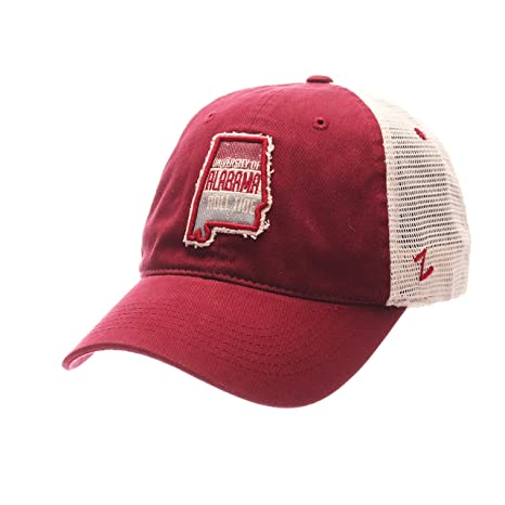 f57040eb Zephyr NCAA Alabama Crimson Tide Adult Men RoadTrip Relaxed Cap ,Adjustable,Cardinal