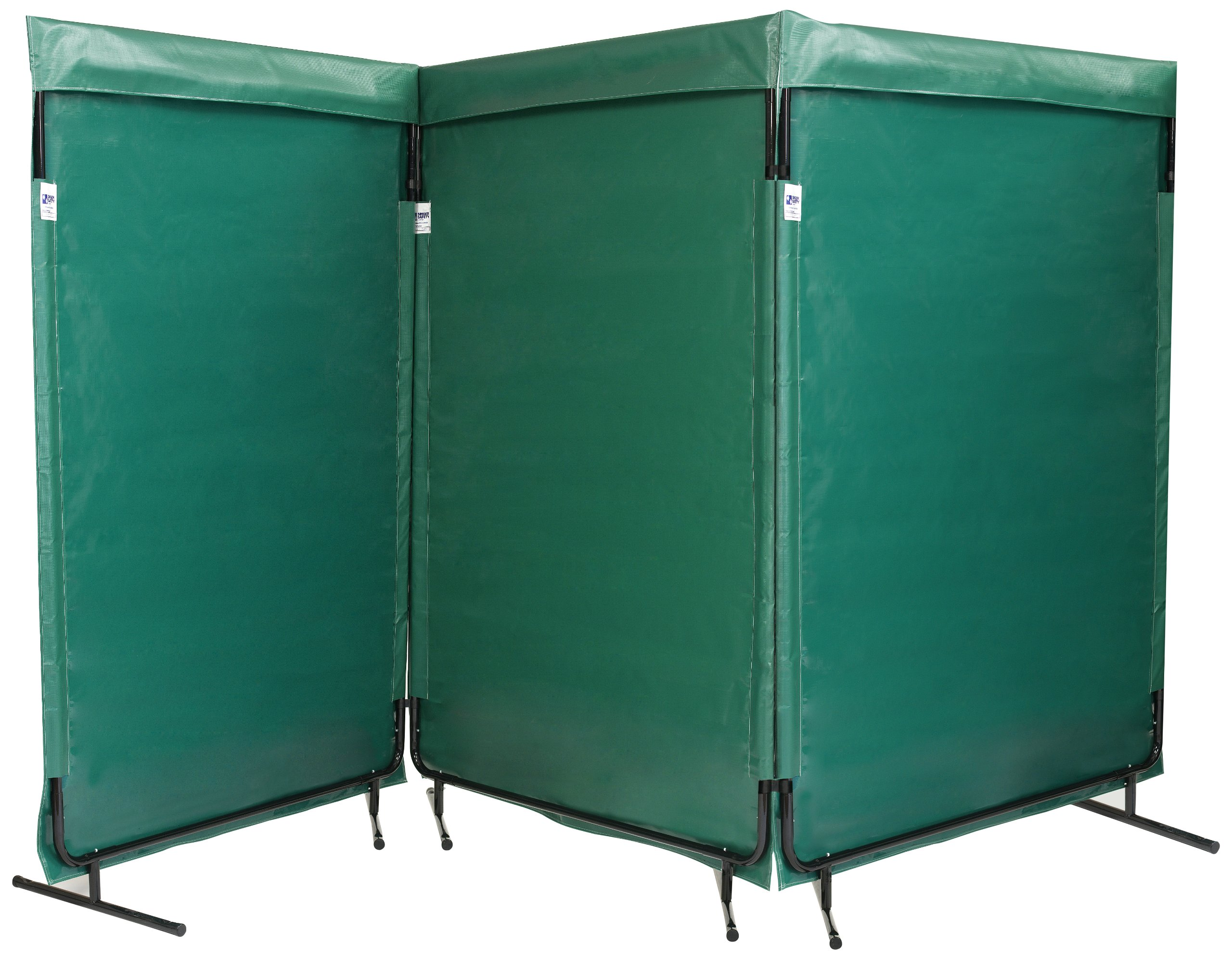 Singer Safety Green Multiple Panel Screen, 12' Width x 6' Height