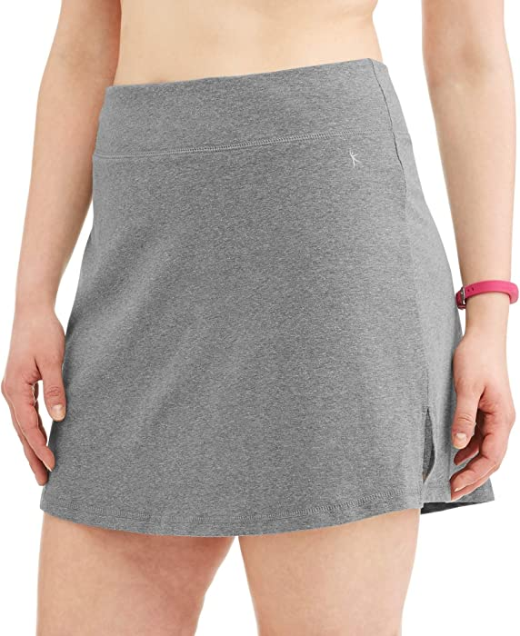 a94296f19d7 Danskin Now Women s Plus Size Activewear Athletic Cotton Blend Skort Skirt  with Built in Shorts