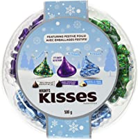 HERSHEY'S KISSES Chocolate Candy Party Tray, Gift, 500 Gram