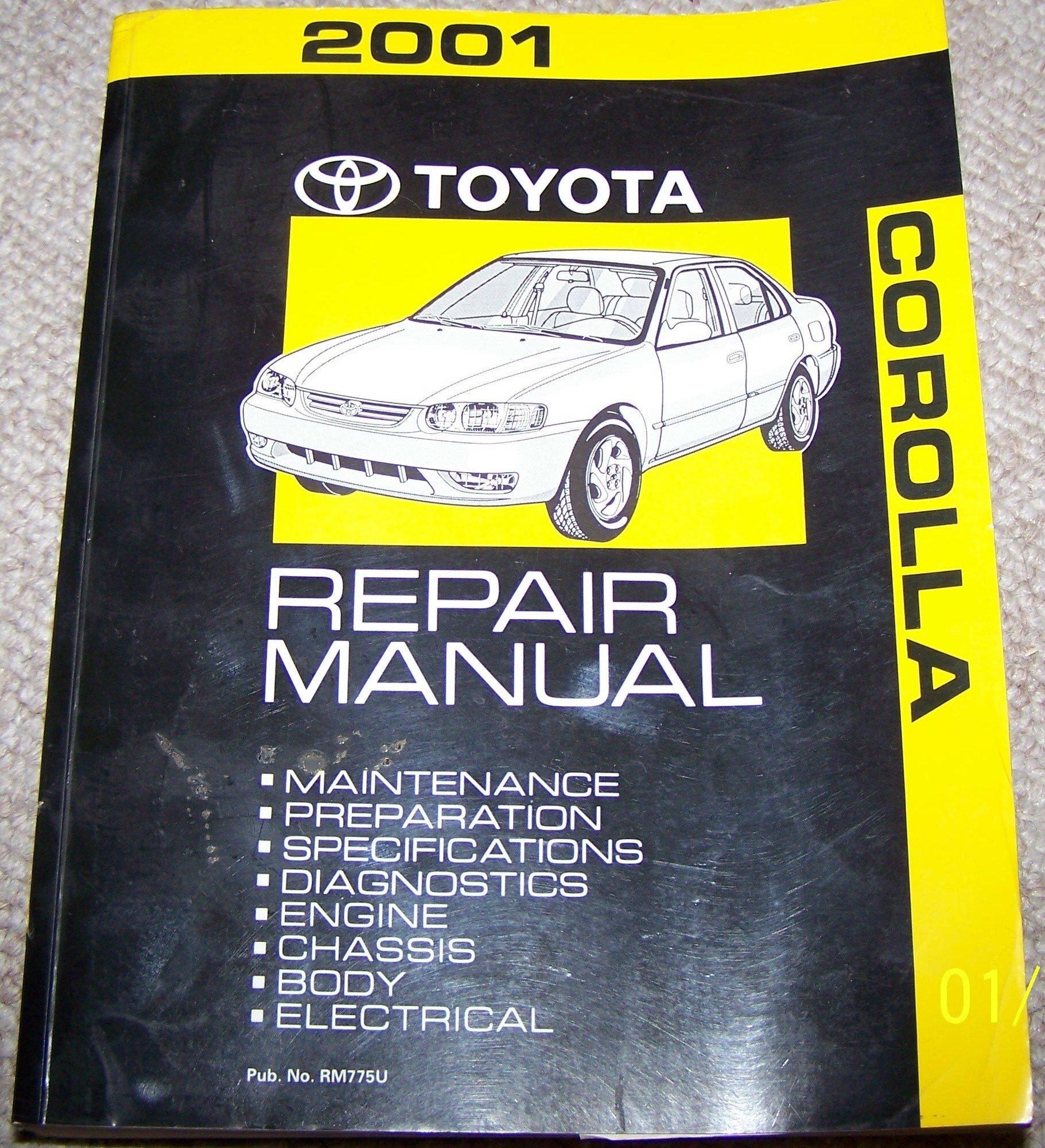 2001 Toyota Corolla Service Shop Repair Manual: Toyota Motor Corp:  Amazon.com: Books