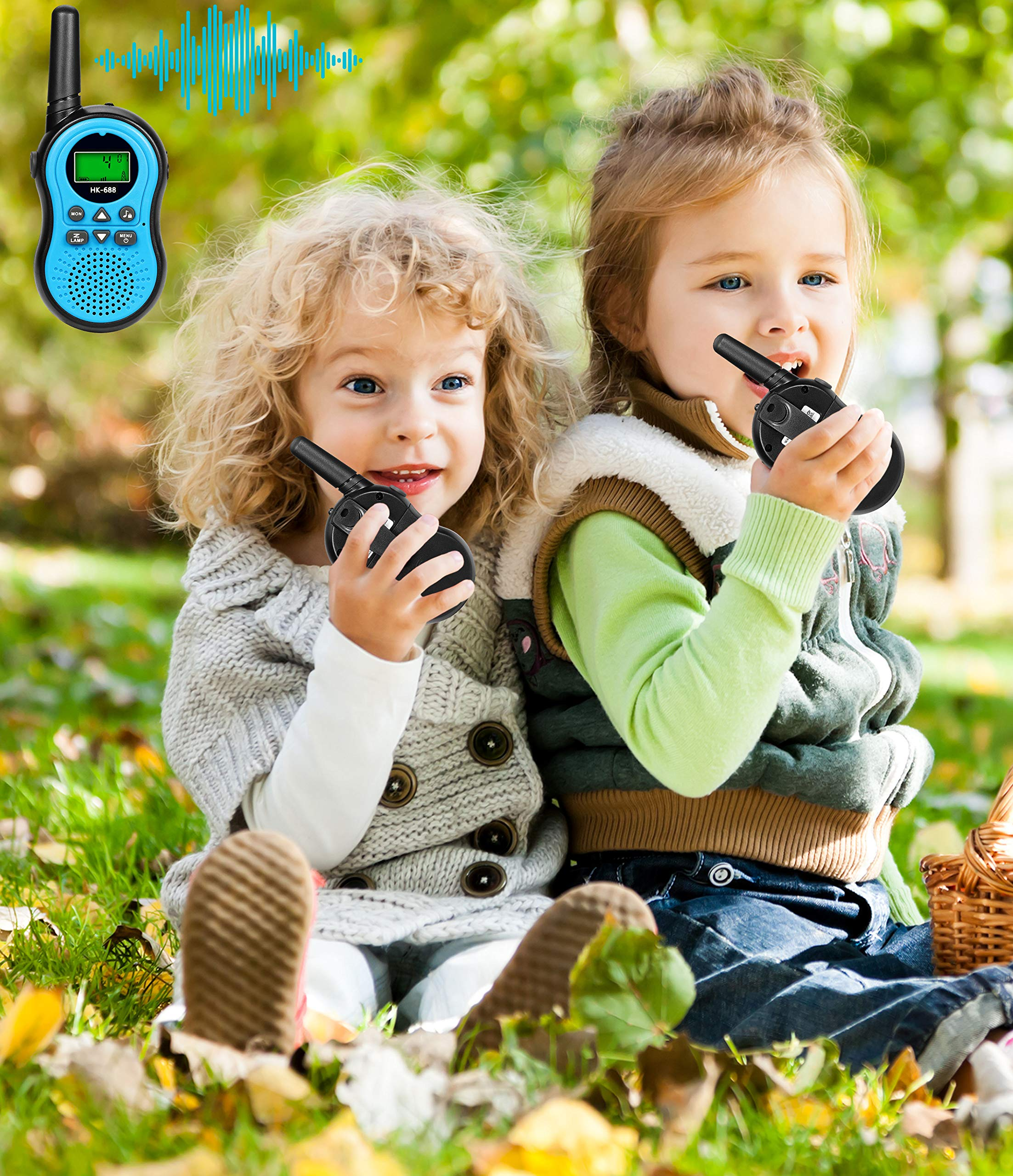 Kids Toys for 3-15 Year Old Boy,Fun Gifts for Teen Girls Boys,XIYITOY Walkie Talkies for Children Teen Boy Gifts Birthday Presents,Boys Gift Age 5,HK-688 1Pair(Blue) by XIYITOY (Image #5)