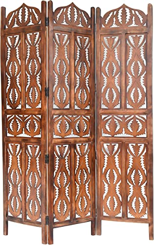 Calloway Mills Home More 10324G08 Pinnacle 3 Panel Wood Screen