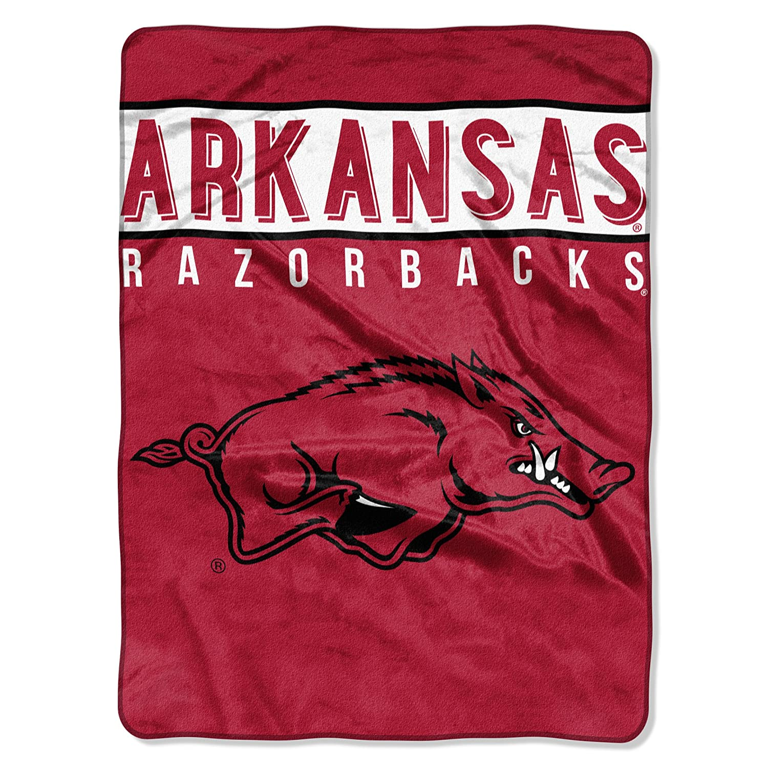 """THE NORTHWEST COMPANY Officially Licensed NCAA Basic Raschel Throw Blanket, 60"""" x 80"""", Multi Color"""