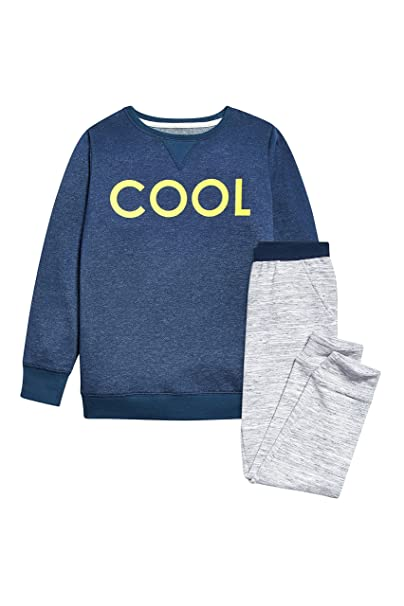 next Niños Junior Pijama De Pantalones Y Camiseta Manga Larga Estampado Eslogan Cool (3-