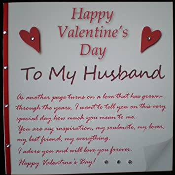 Happy Valentines Day Card  A Love Letter To My Husband