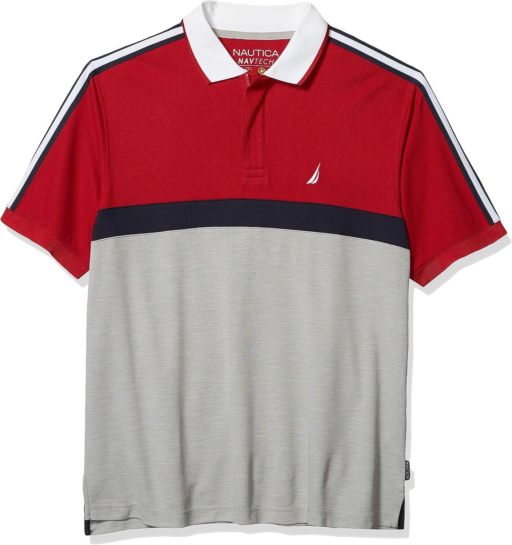 Nautica Men's Big and Tall Navtech Short Sleeve Colorblock Polo Shirt