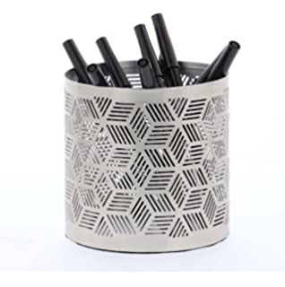 Amazon.com: GWG Outlet metal plateado, revistero 11