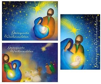 Religiöse Weihnachtskarten.Pacidus 12 Christliche Weihnachtskarten Geburt Jesu Christi 3 Motive à 4 Postkarten Din A6 Religiöse Grußkarte Geschenkkarte Künstlerisch