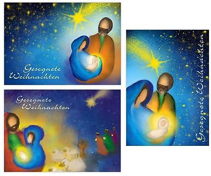 Christliche Weihnachtsgrüße Kostenlos.Pacidus 12 Christliche Weihnachtskarten Geburt Jesu Christi 3 Motive à 4 Postkarten Din A6 Religiöse Grußkarte Geschenkkarte Künstlerisch
