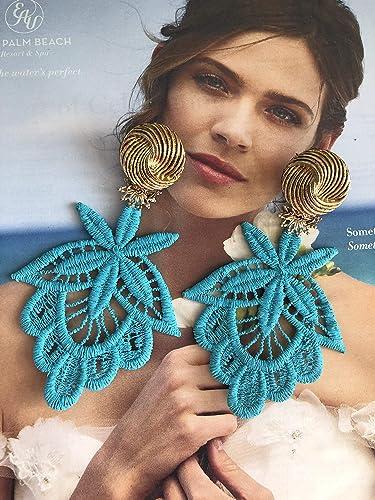 93e2b2c88 Turquoise Dangle Earrings, Spring Earrings, Long Earrings, Chandelier  Earrings, Long Earrings, Bridal Jewelry, Pierced Earrings, Statement  Jewelry,Jewelry ...