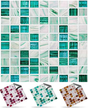 Tile Style Decals | Modell (30xTP 12   6in  Aqua Marble) | Mosaik