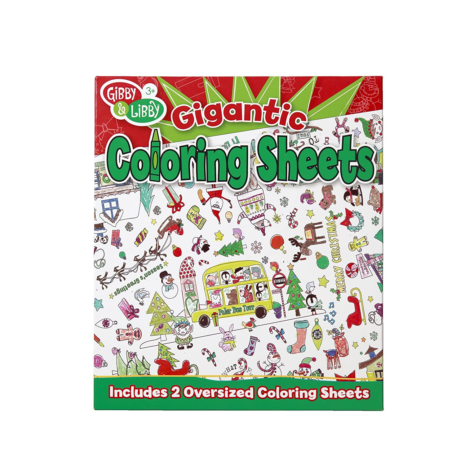 Holiday Coloring Pages: An Oversized Christmas Coloring Page Printable | 1500x1500