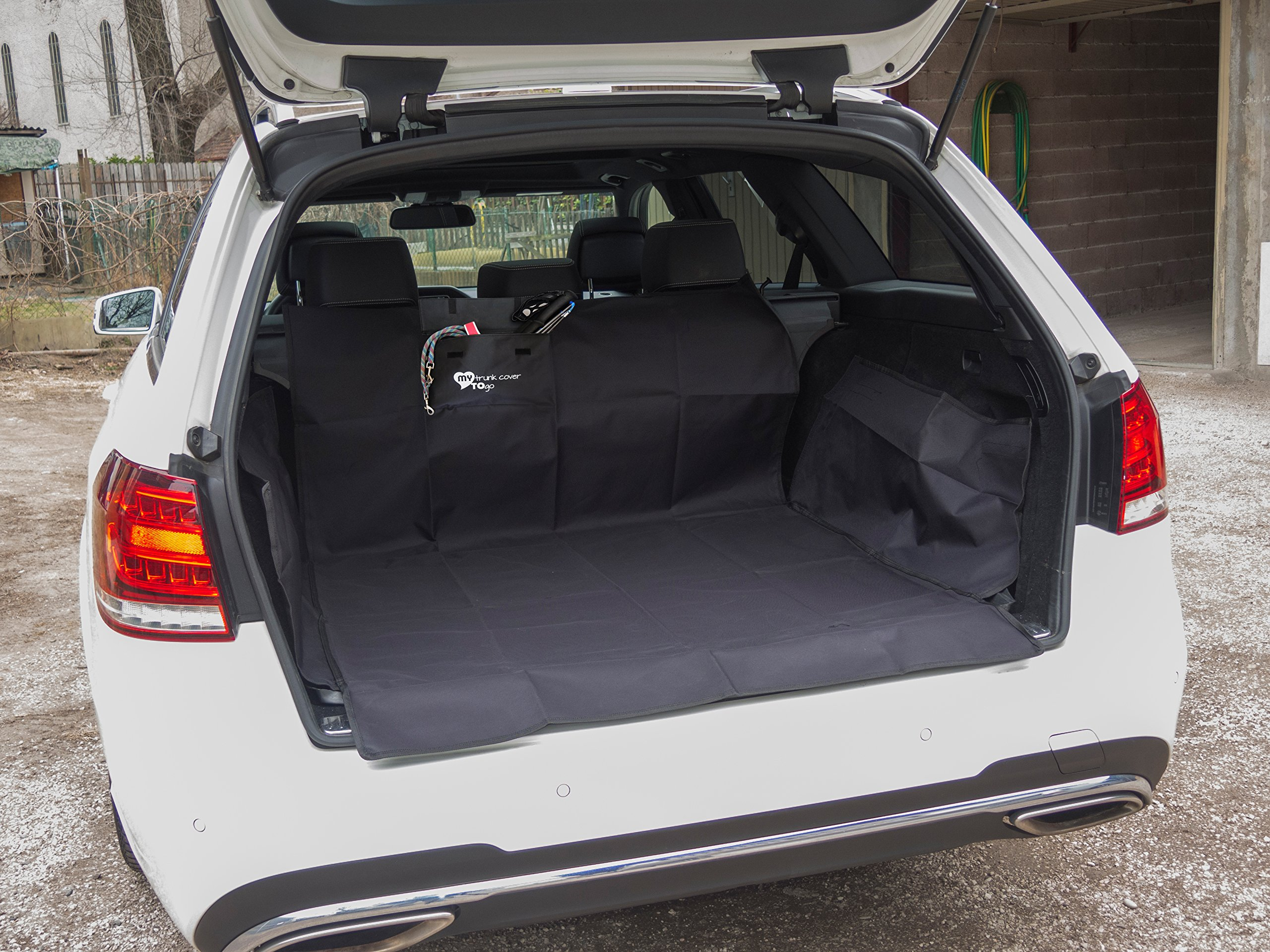 Abwaschbare robuste universale Kofferraumschutz Matte| MY trunk cover TO go | schmutzabweisend |universal | Seitenschutz hoch | die Hunde-decke schützt Ihr Auto vor Kratzer, Hund-haare, Flüssigkeit