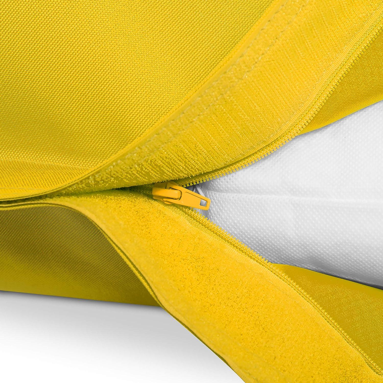 380Litre EPS Remplissage de Perles Housse PVC Pink Int/érieur et ext/érieur Beanbag Green Bean /© Square XXL Pouf Poire Beanbag 140x180 cm Certifi/é