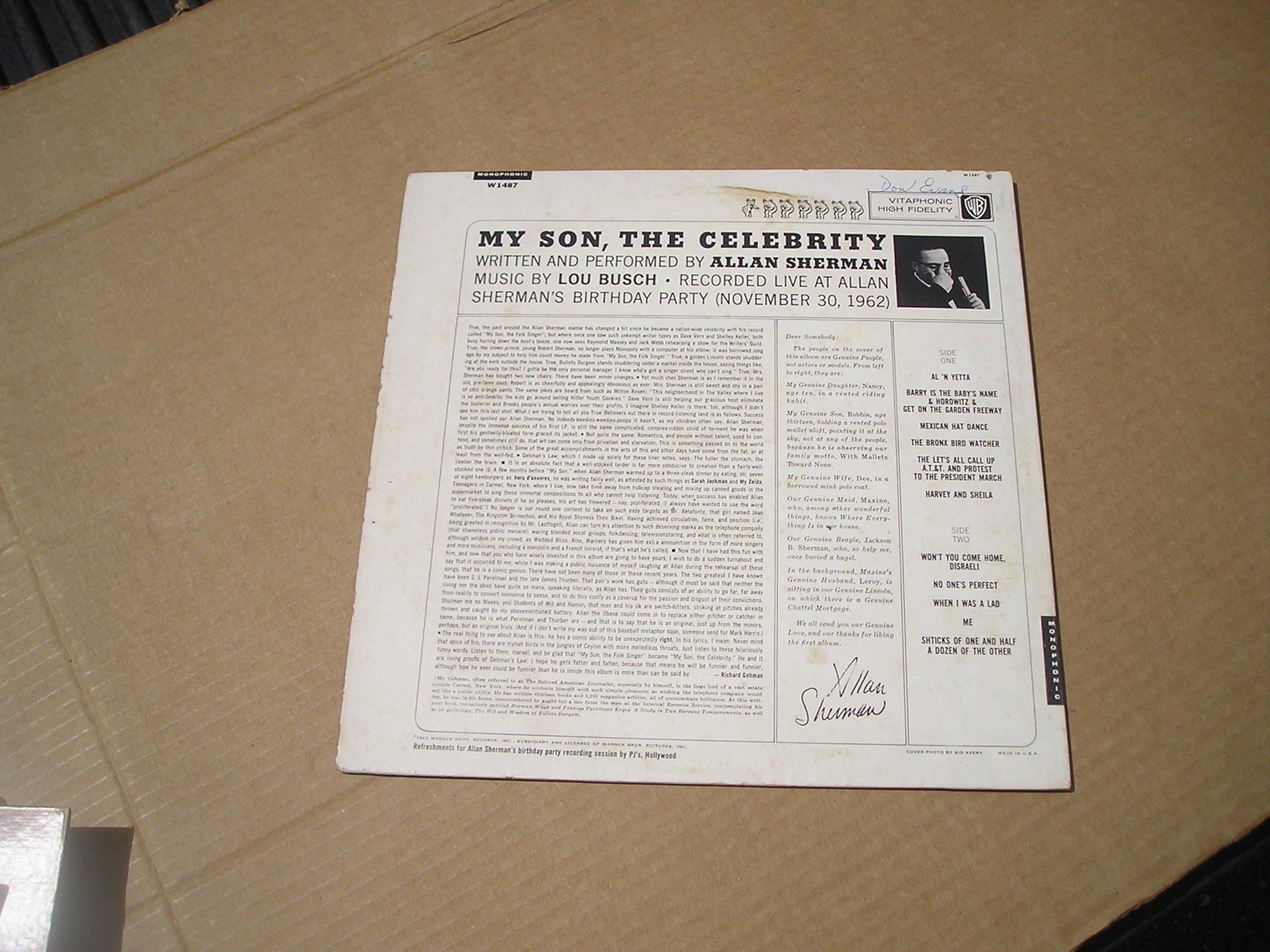 Allan Sherman: My Son, the Celebrity [Vinyl LP] [Mono]