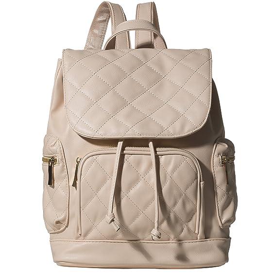 Amazon.com | Handbag Republic Vegan Leather Quilted Backpack Purse ... : leather quilted backpack - Adamdwight.com