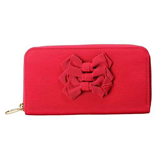 aa9664a1092 Image Unavailable. Image not available for. Color: Red Valentino Women's Red  Bow Decorated Clutch Wallet