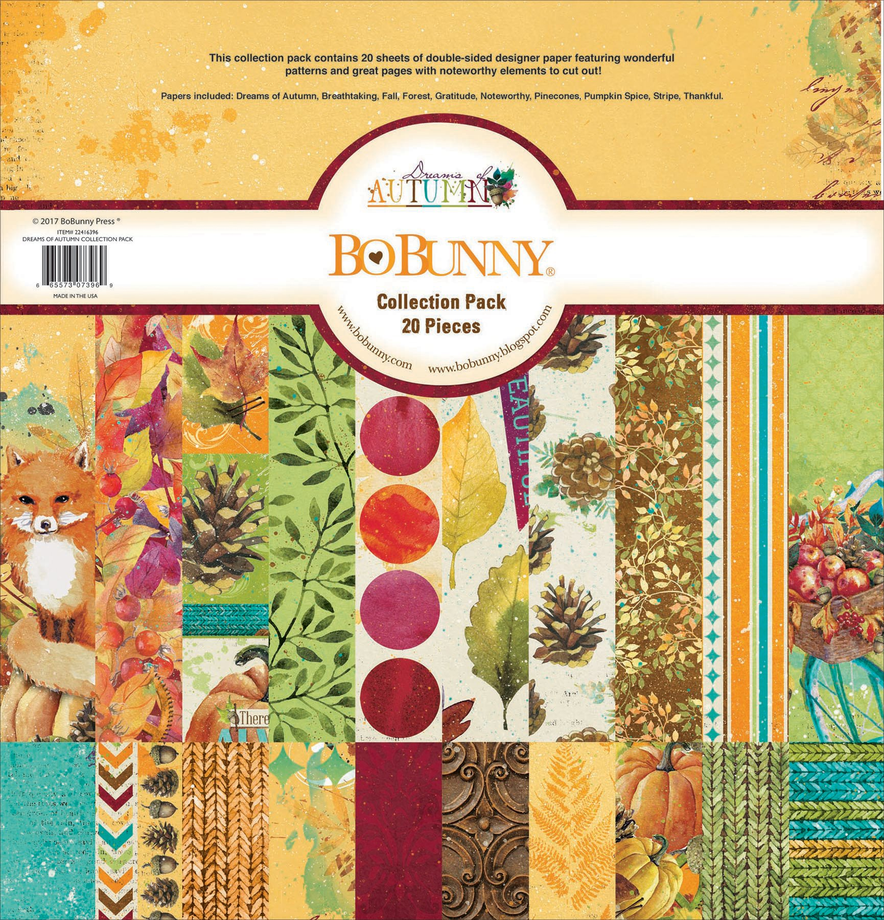 Bo Bunny BBU22416396 Dreams of Autumn Collection Pack Paper Pad