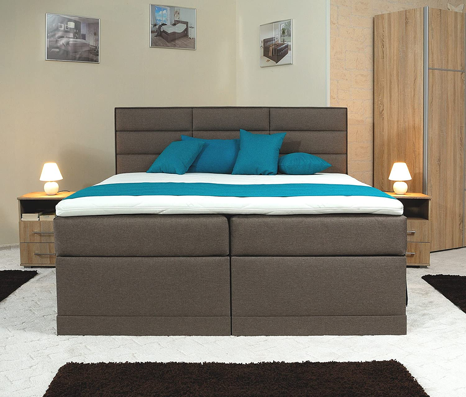 spenger bettenstudio boxspringbett don 200x200 cm. Black Bedroom Furniture Sets. Home Design Ideas