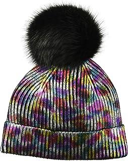 d100cb3de1c657 Steve Madden Women's Solid Metallic Cuff Hat, Oil Spill, ONE Size at ...