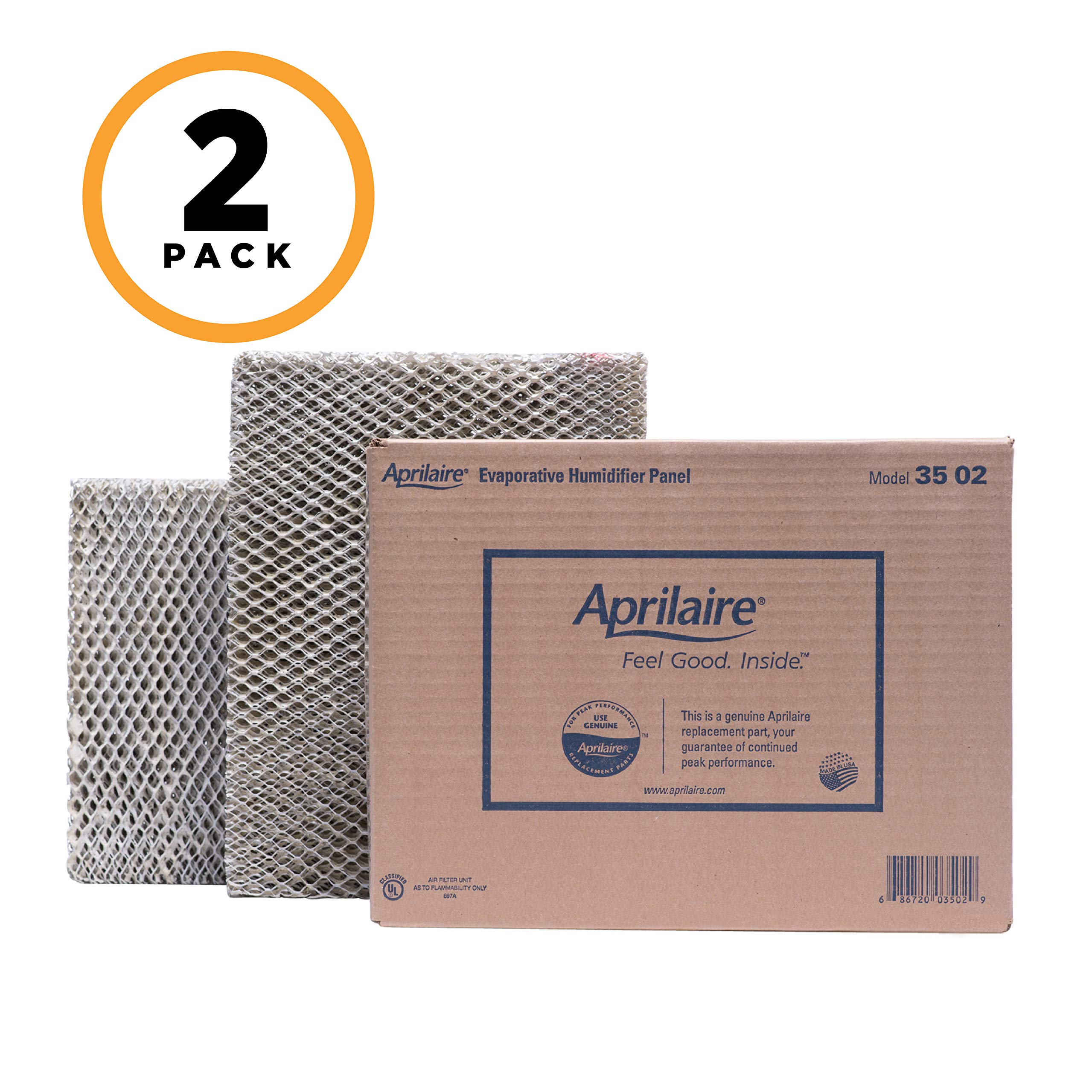 Aprilaire 35 Replacement Water Panel for Aprilaire Whole House Humidifier Models 350, 360, 560, 568, 600, 600A, 600M, 700, 700A, 700M, 760, 768 (Pack of 2) by Aprilaire