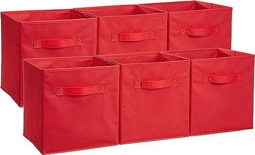 6-Pack AmazonBasics Foldable Storage Cubes Grey